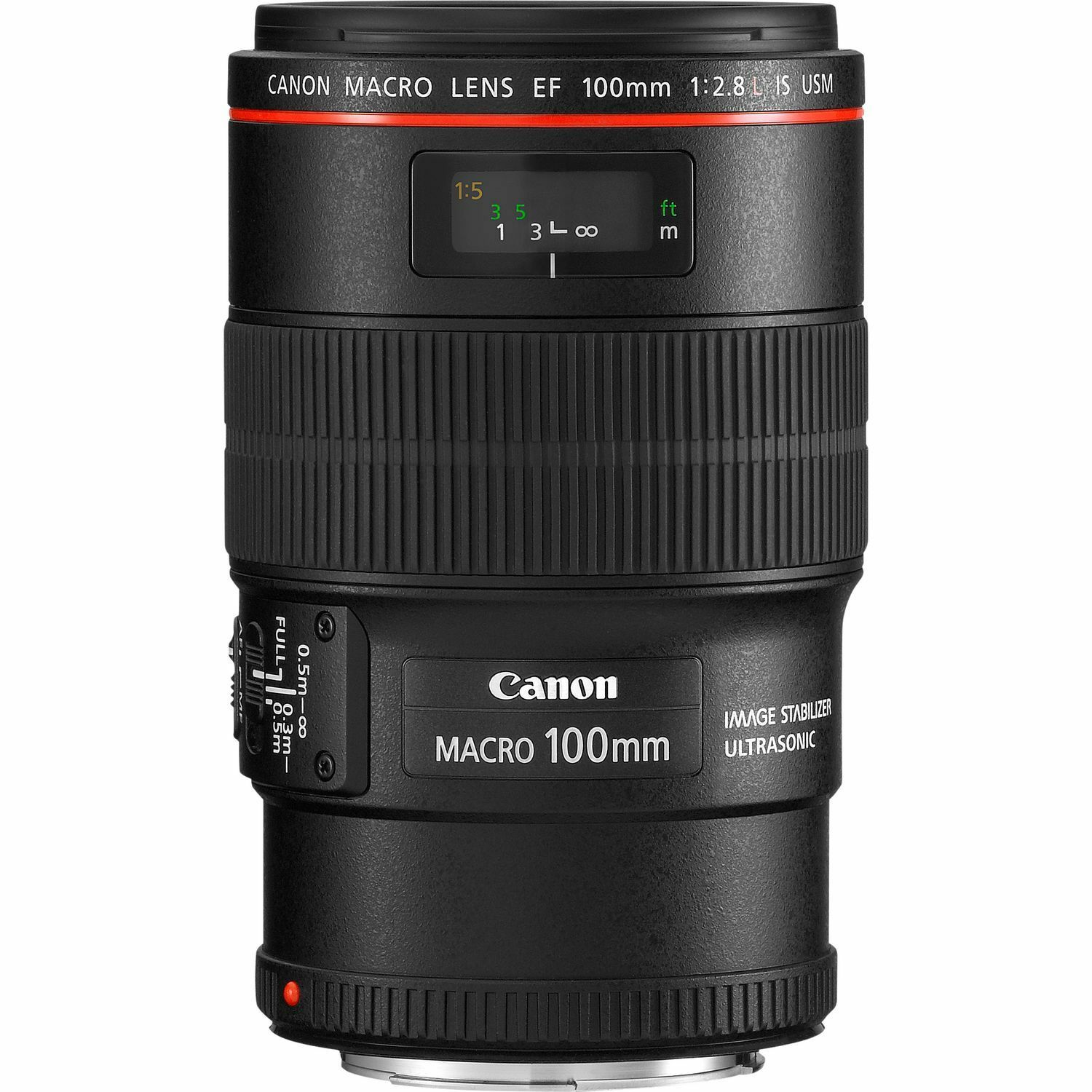 Canon EF Camera Telephoto Lens 100mm f2.8 L Macro IS USM