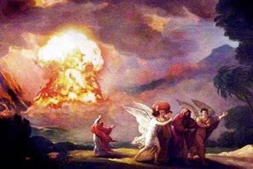 Pagal vieną iš hipotezių, bibliniai miestai buvo sunaikinti branduoliniu sprogimu. © x-files.org.ua