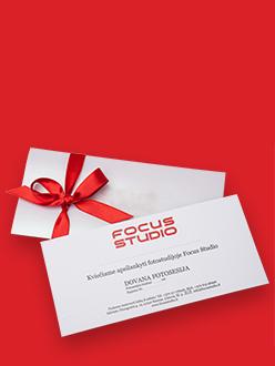 Focus Studio dovanų kuponas - puiki idėja pasveikinti savo artimą originaliu būdu.